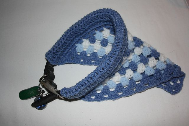 Ravelry: Crochet Pet Bandana - 3 Ways pattern by Ali Campbell. Not free but very nice pattern!