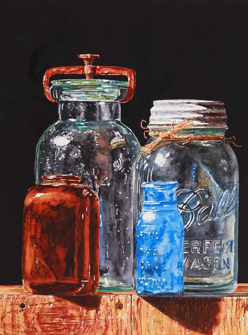 Watercolor Realism: Glass & Wood with Laurin McCracken - Creative Catalyst Productions