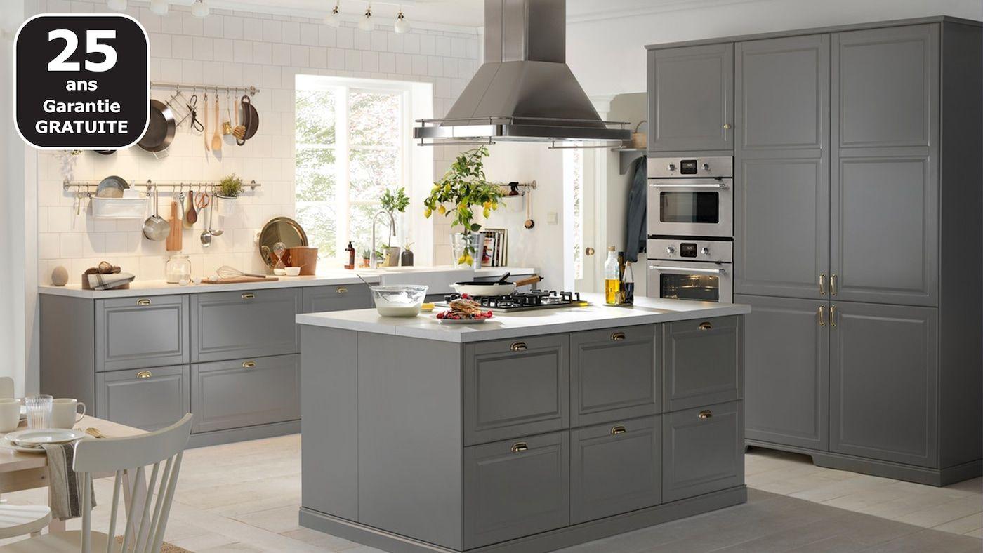 Cuisines Metod Finition Bodbyn Gris Ikea Cuisine Bodbyn Cuisine Ikea Cuisine Ikea Grise
