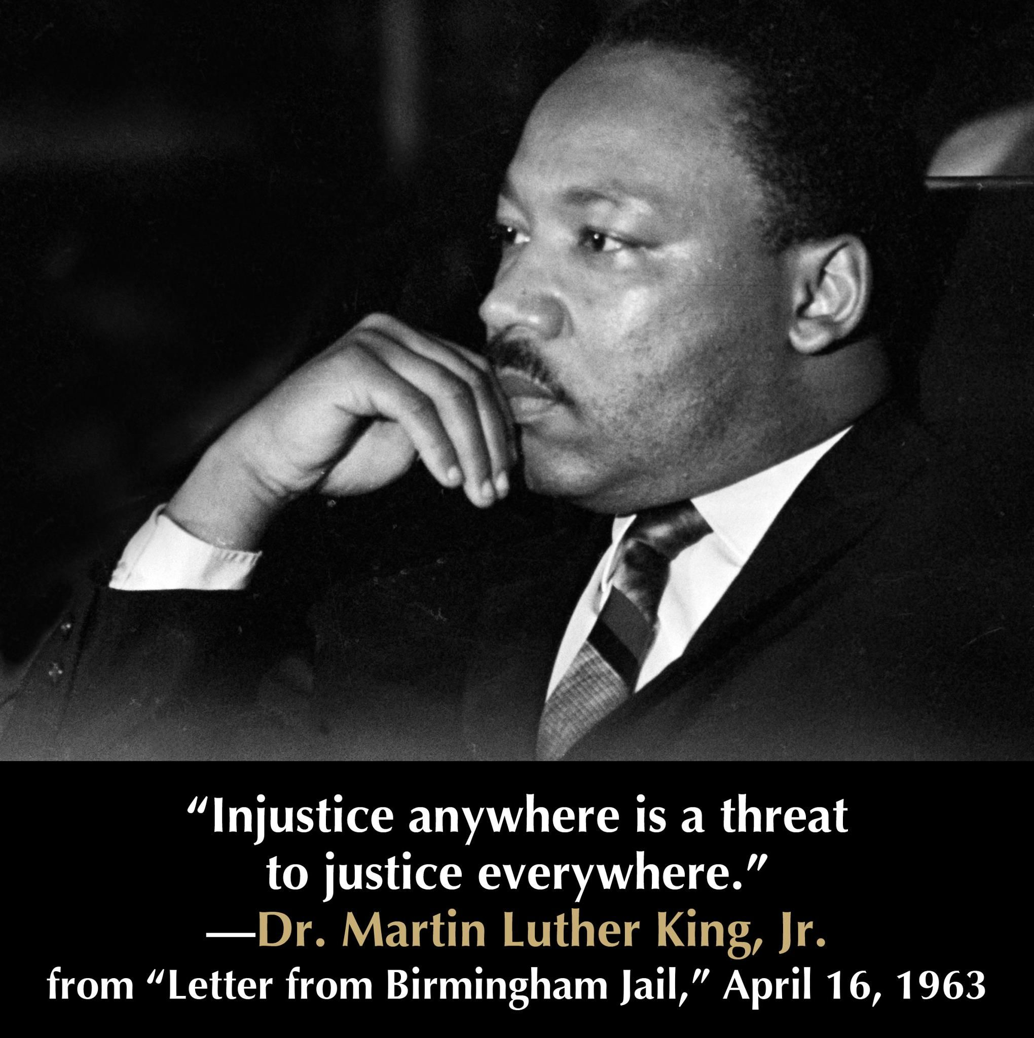 Letter From Birmingham Jail Quotes Beacon Broadside Martin Luther King Jr Inspirational People And