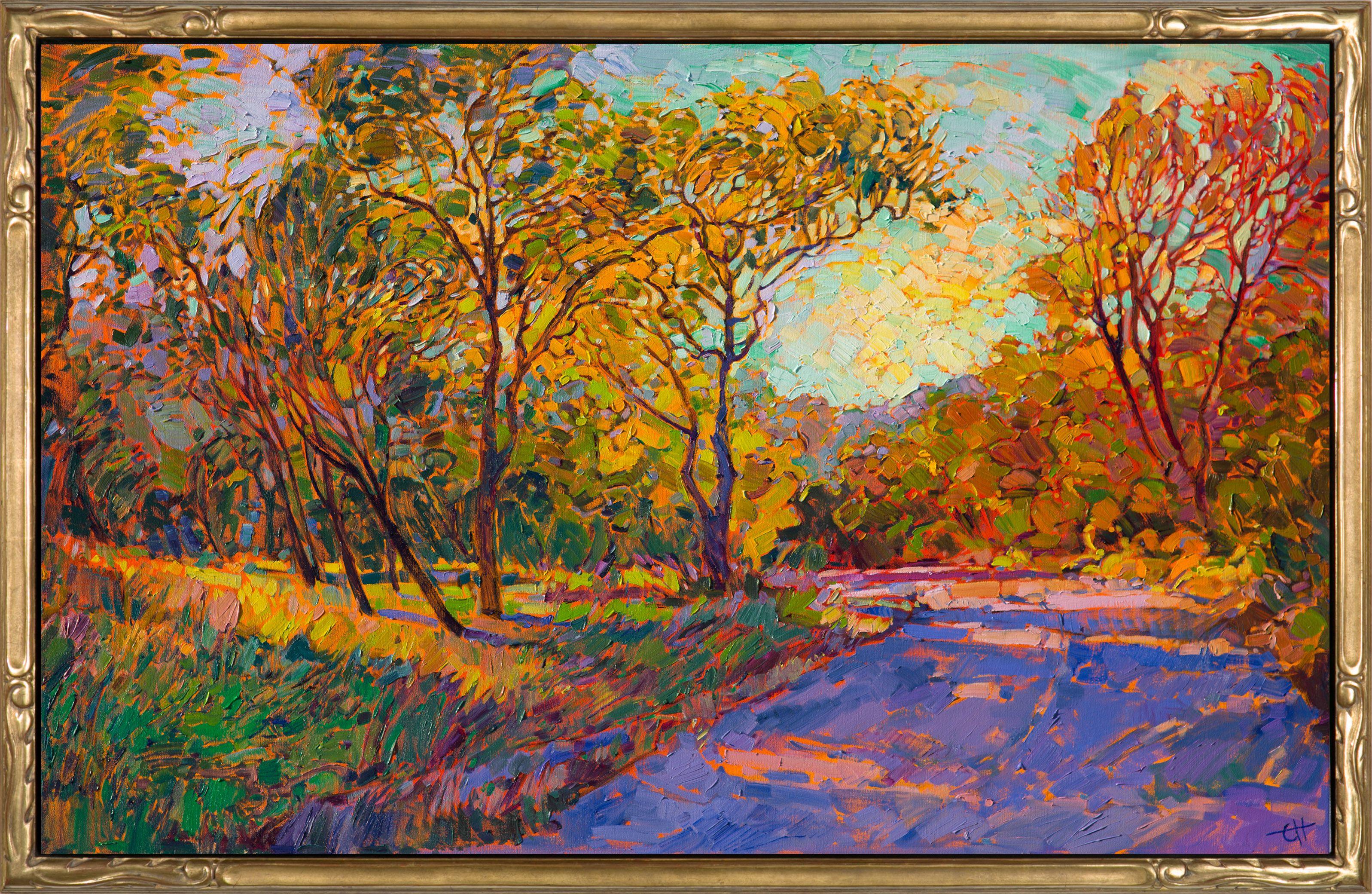 Autumn dawn contemporary impressionism landscape oil