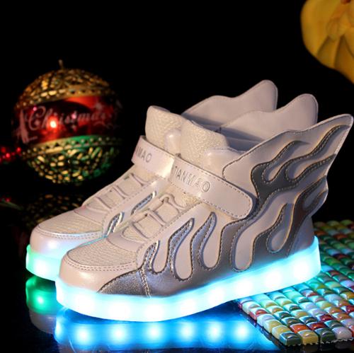 detailed look e742b 7660f Fuego Zapatos LED Con Alas Blanco