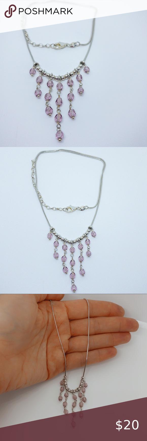 Purple Amethyst Quartz Handmade Sterling Siver Plated Pendant 2 Pocketfriendly Matching Jewelry!