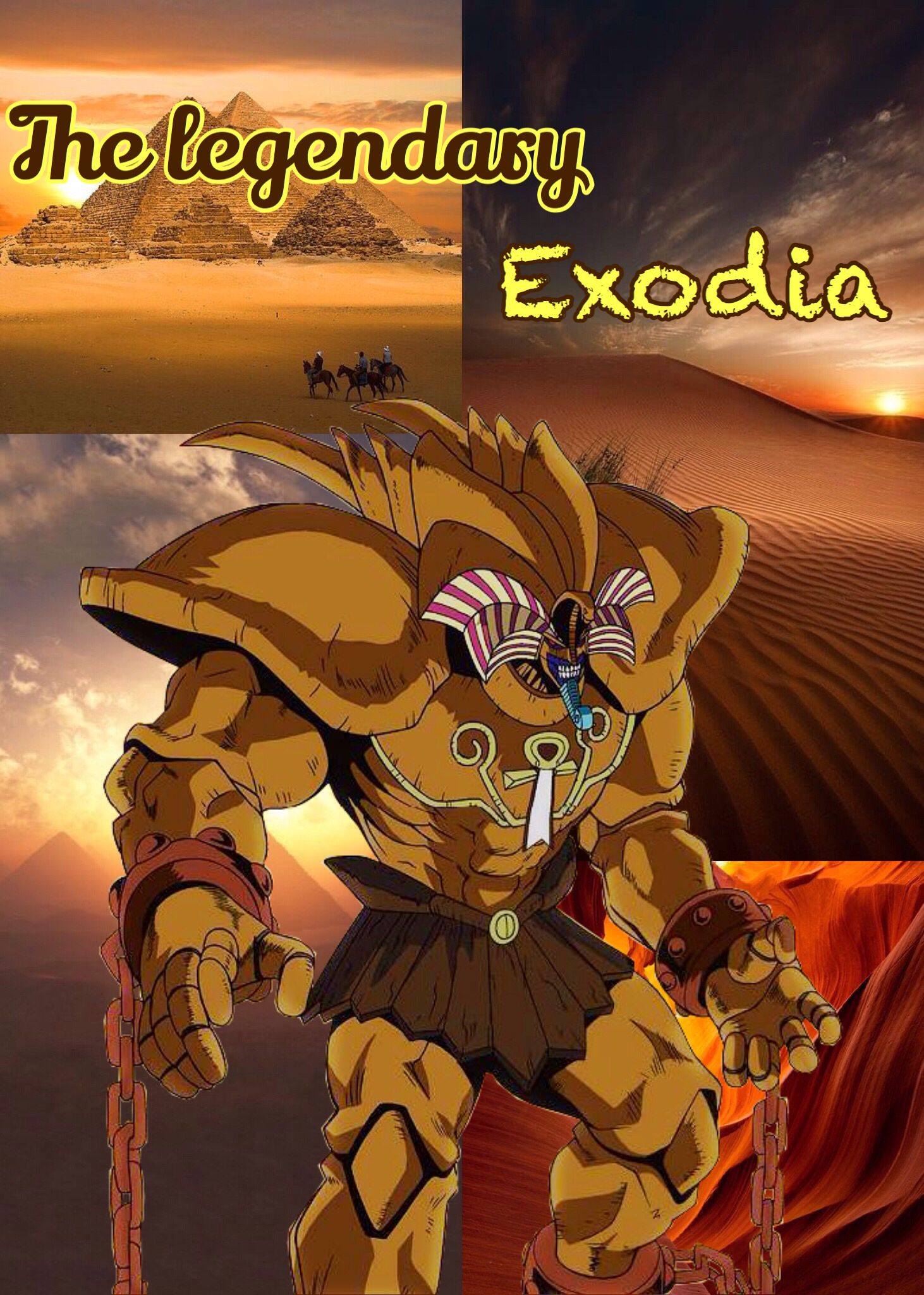 The Legendary Exodia Yu Gi Oh The Forbidden One Yugioh Manga Anime Anime