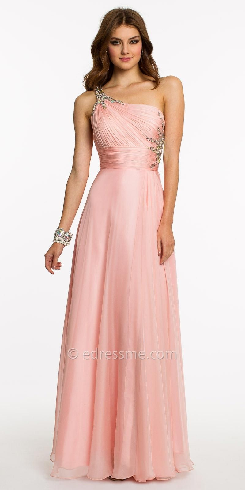 grecian dress | Grecian One Shoulder Dress With Beading Prom Dress ...