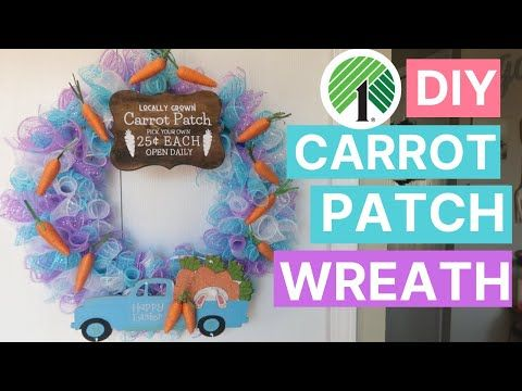 Photo of DIY Dollar Tree Mesh Wreath | Easter + Carrot Patch Spring Themed