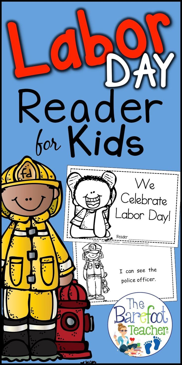 Labor Day Emergent Reader and Community Helpers Activities   Labor day  crafts [ 1470 x 736 Pixel ]