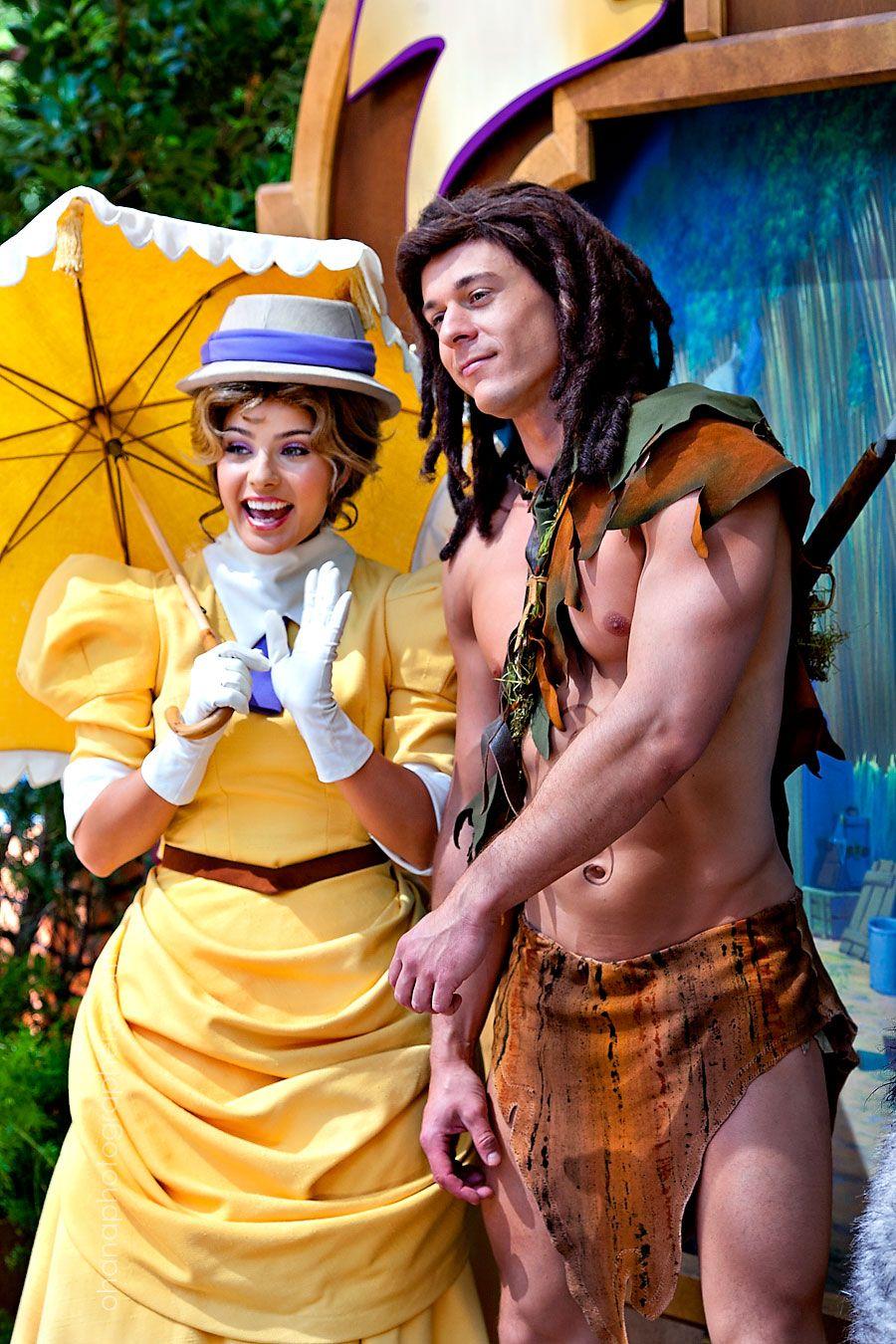 Disneyland Long Lost Friends week. Tarzan and Jane #disneyland #disneycharacters #tarzan #limitedtimemagic