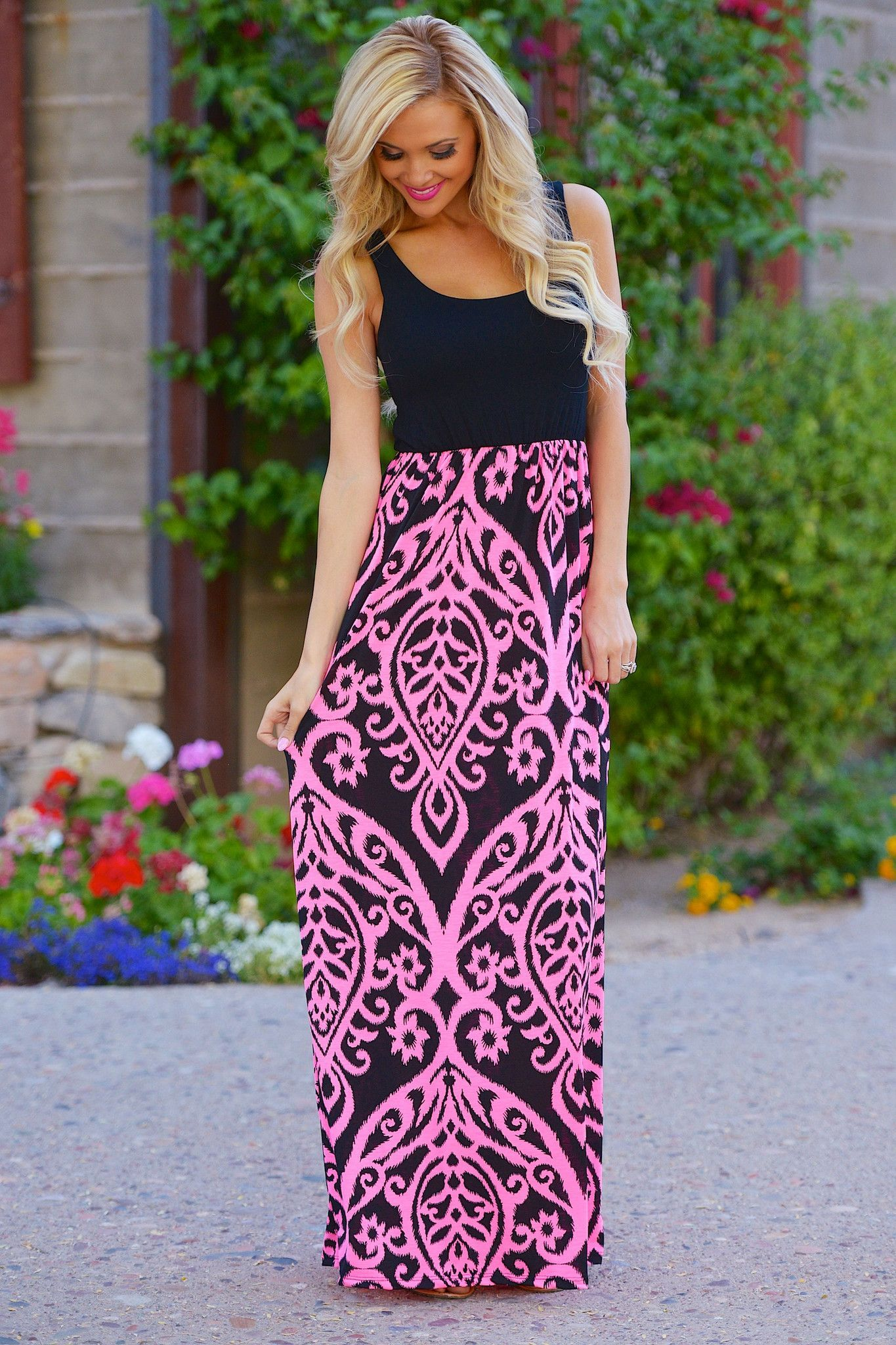 4482d6042b Another Love Song Maxi Dress - Black Pink from Closet Candy Boutique ...