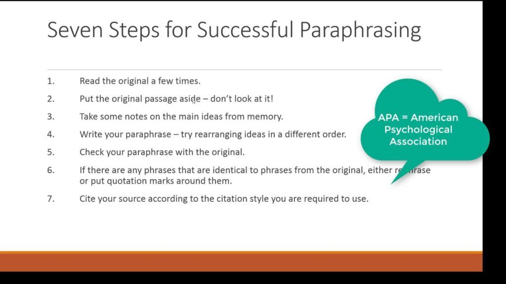 Apa Paraphrasing Ple In Text Citation Reference Paraphrase Citing A Book Picture Quote Image Quotes How To And Cite
