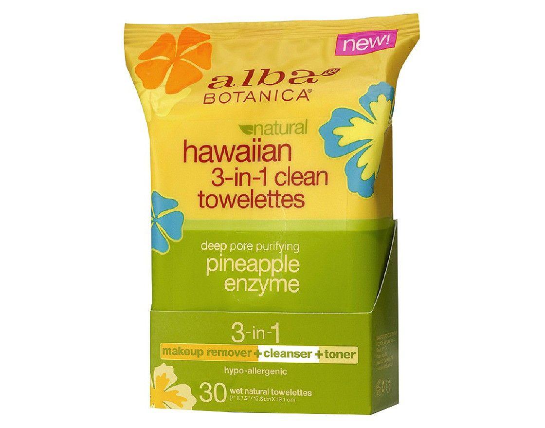 Alba Hawaiian 3-in-1 Clean Towelettes- 30ct