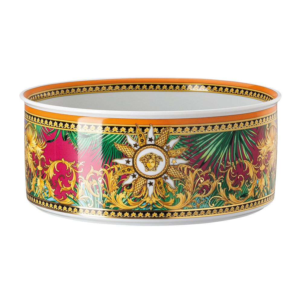 Bring some sartorial style to your table setting with this Jungle Animal bowl from Versace Home. Crafted from porcelain, it's been ornately decorated with a simply wild jungle-inspired print with hints of the iconic Medusa. Pair with complementing tableware from the Jungle Animal collection to create a fashion-forward tablescape.  Key features:  * Material: porcelain  * Dimensions: Ø22cm  * Jungle print  * With Medusa accents  * Inspired by the legendary print reprised on the Versace Spring Summ