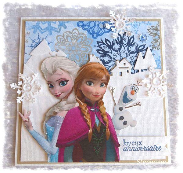 carte reine des neiges - Joyeux Anniversaire Reine Des Neiges