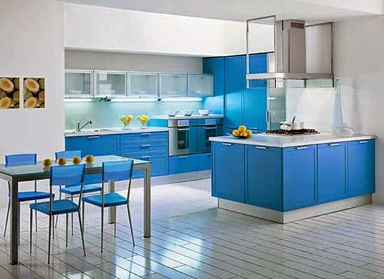 Ini 12 Gambar Desain Dapur Minimalis Warna Biru Blog Home