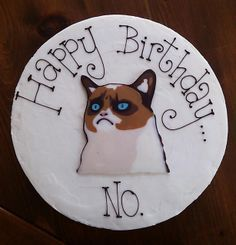 Grumpy Cat Birthday GrumpyCatMerchcom Grumpy Cat Birthday Cakes
