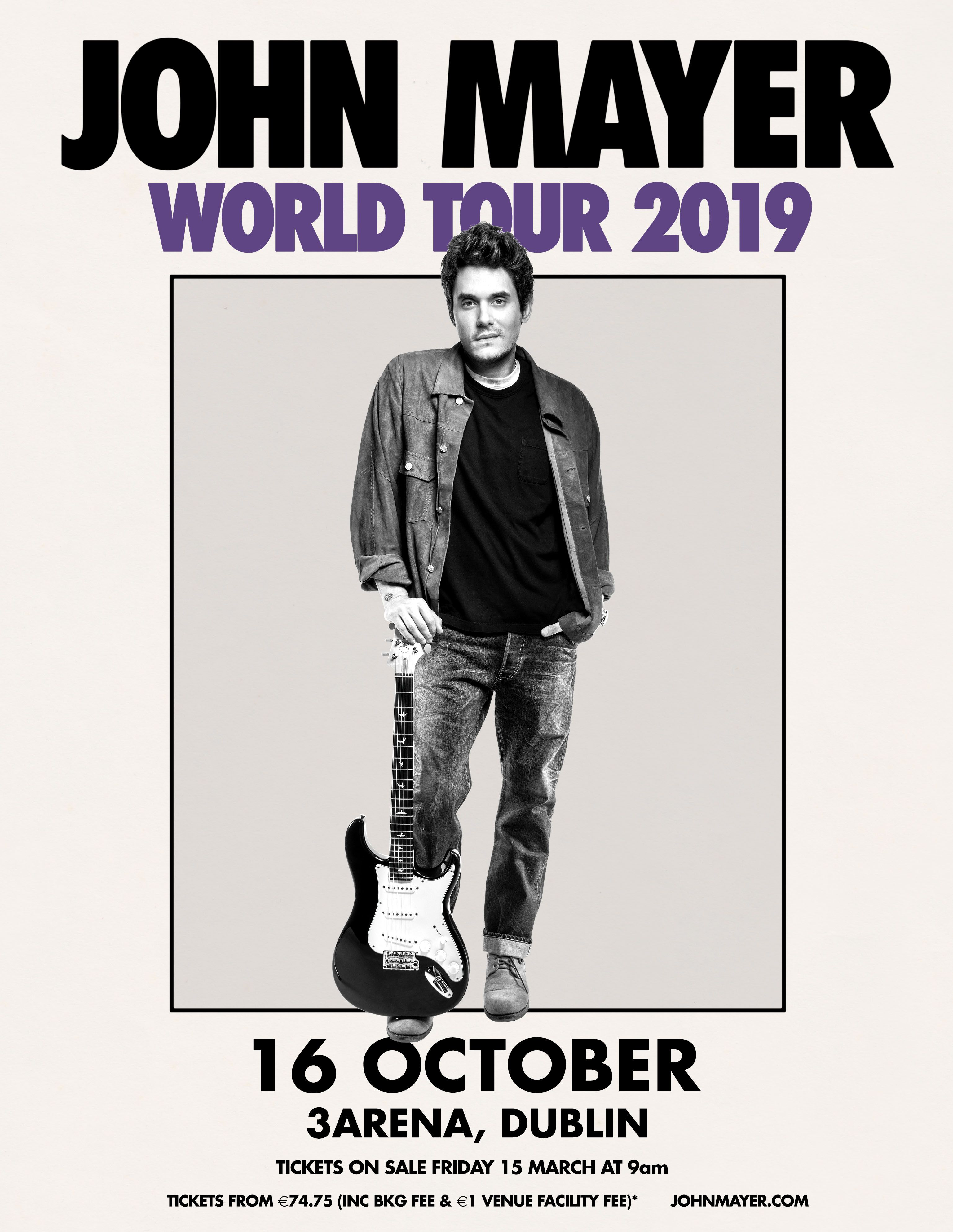 Pin By Marta Kowalska On John Mayer John Mayer Tour John Mayer John Mayer Poster