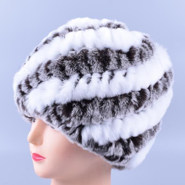 dee1df2b5b5 Genuine Rex Fur Pom poms Snow Cap Winter Hats for Girls Skull Cap Real Fur  Knitting Rabbit Skullies Beanies Women Hats