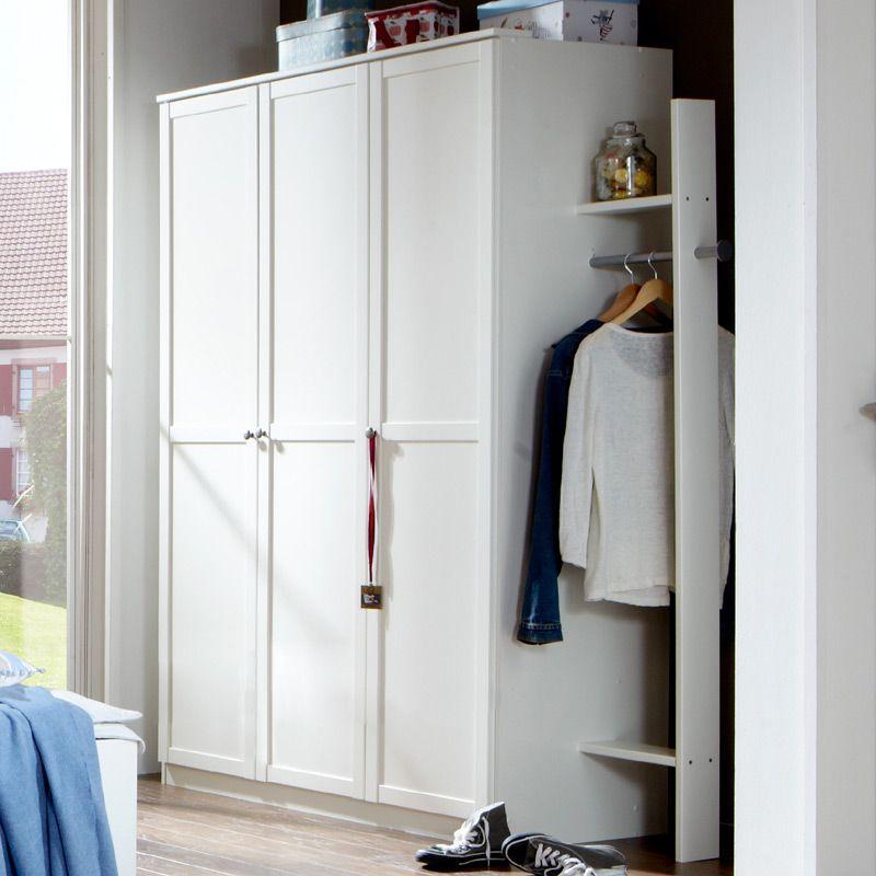 e-combuy Angebote Kleiderschrank »LOUFI« in alpinweiß, mit Garderobe ...