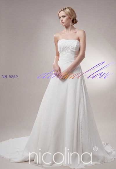 7d11ce02577 NICOLINA bridal gown the stunning train looks effortless