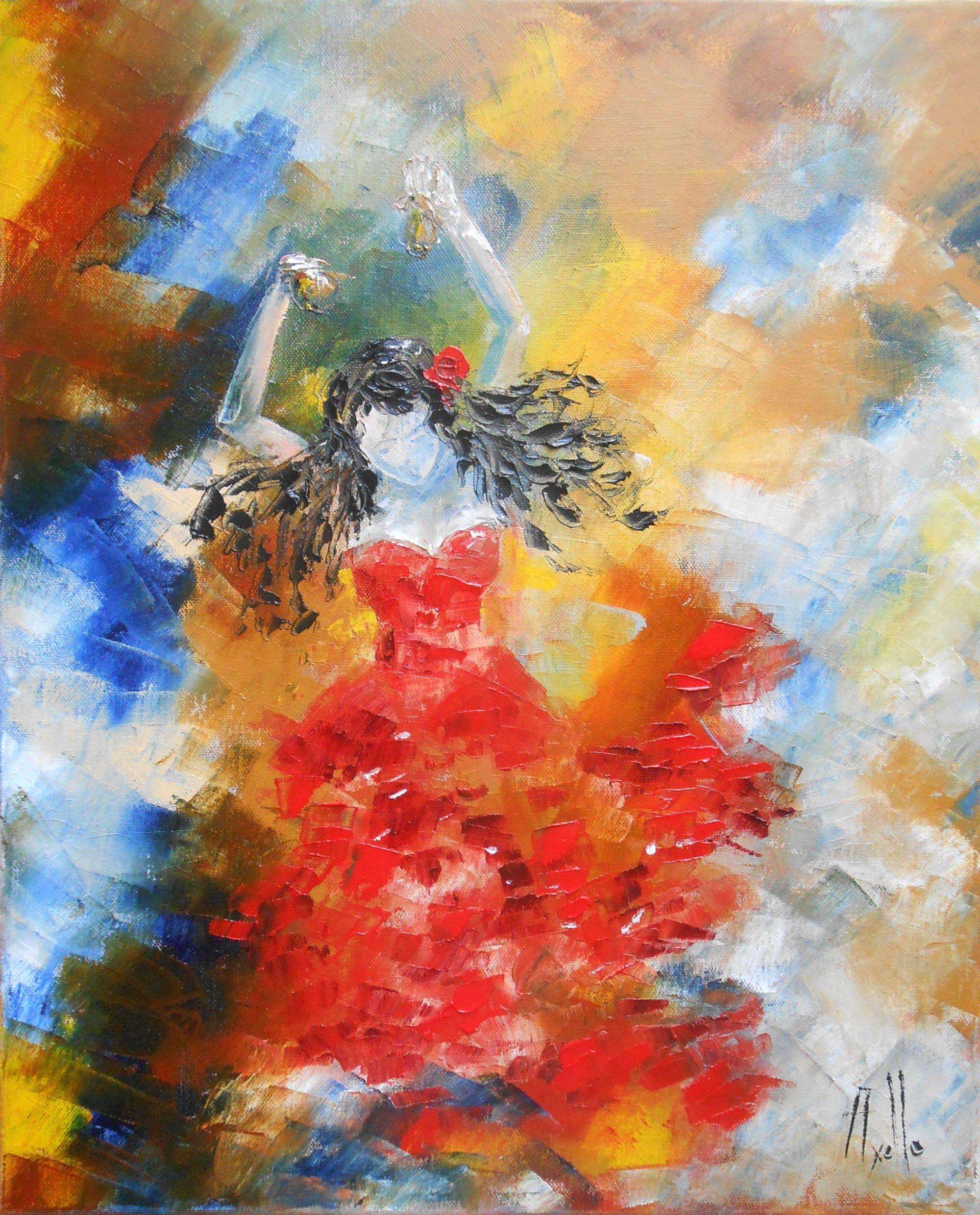 Peinture à l huile contemporaine