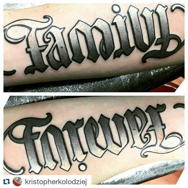 Forevever Ideas Family Tattoo Illusion: Ambigram Tattoo, Tattoos