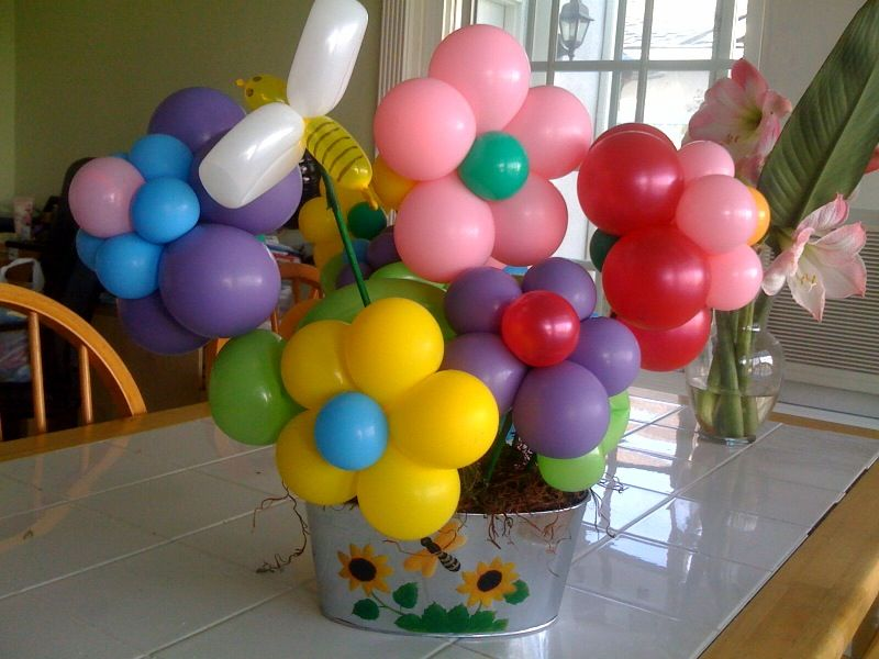 How to make balloon centerpiece center pieces and accent