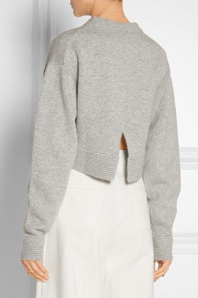 Tibi | Cropped cashmere sweater | NET-A-PORTER.COM … | Pinteres…
