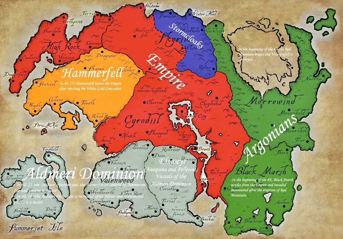 A map of the political situation in the Skyrim world | Game Art ...