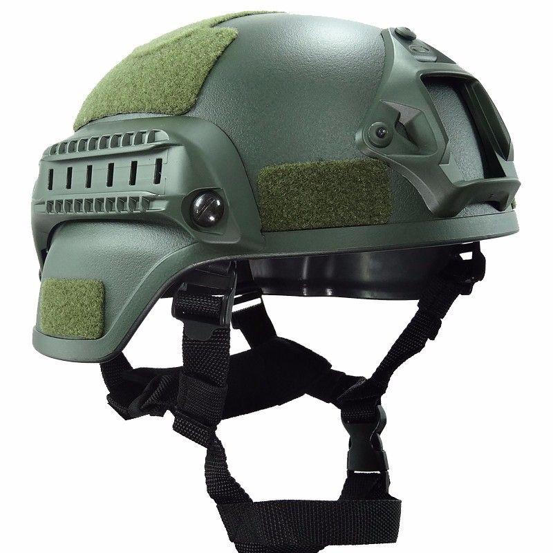군사 Mich 2000 전술 헬멧 장난감 기어 페인트 머리 보호 야간 스포츠 카메라 마운트