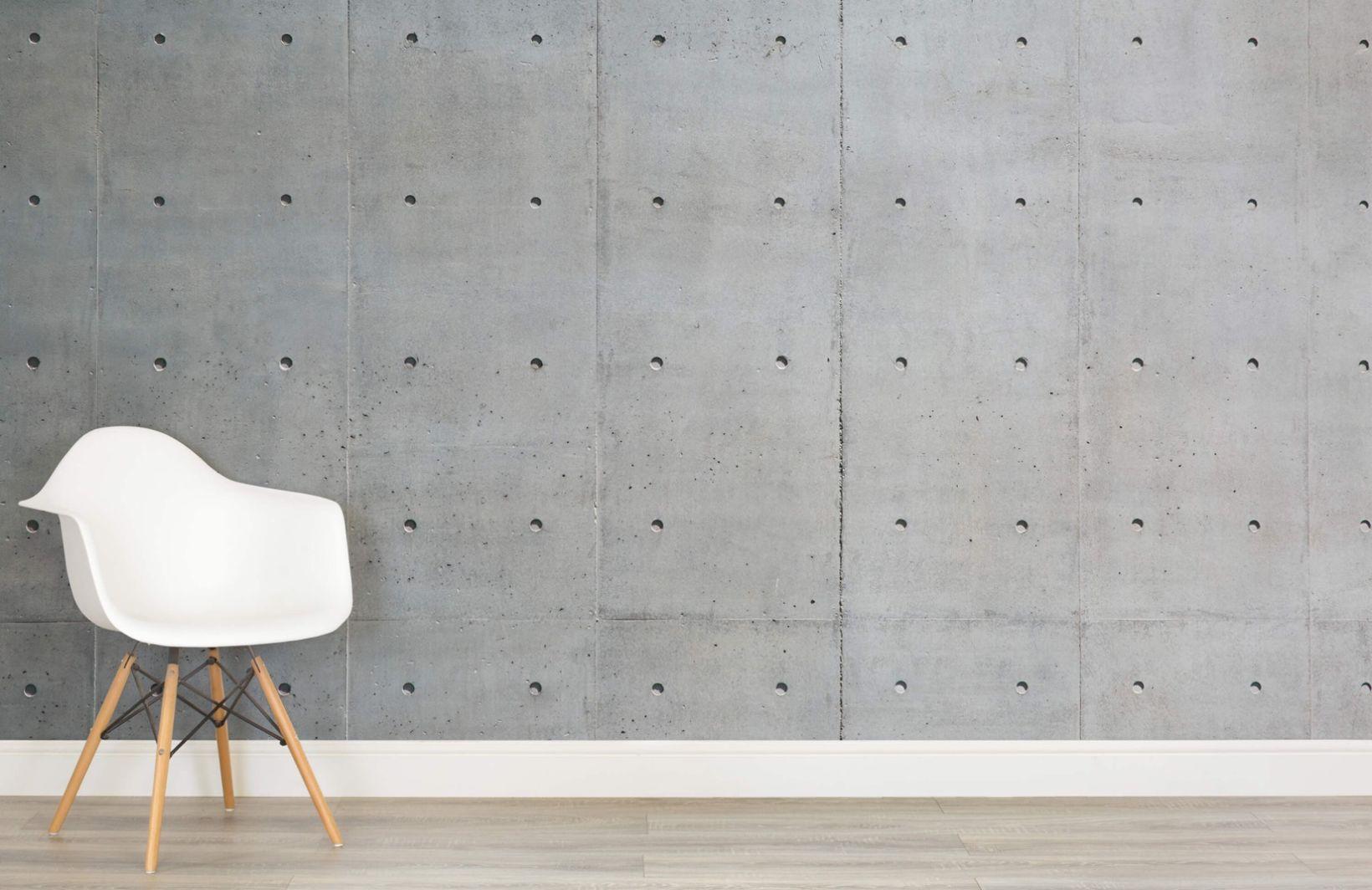 Bare Concrete Wallpaper Mural In 2019 Concrete Wall