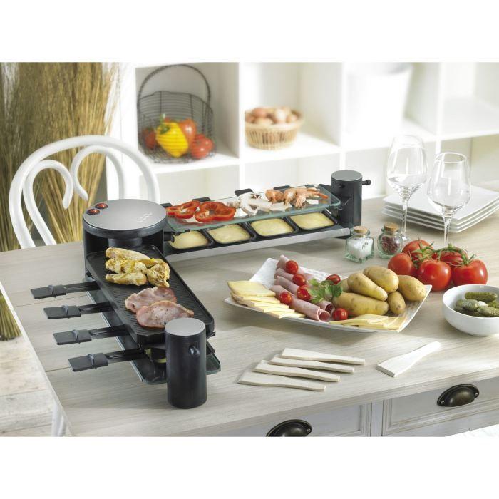 appareil raclette grill pierre griller multi plaques electrom nager maison grilling. Black Bedroom Furniture Sets. Home Design Ideas