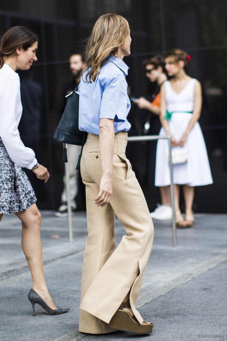 Pantalona Nude super chique.Look perfeito pro trabalho.I love this pants!