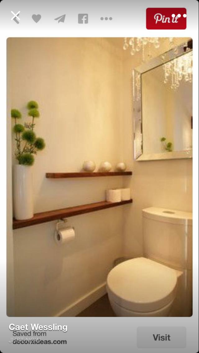 love the short narrow shelf to store extra TP | Bathroom ~ Ladies ...