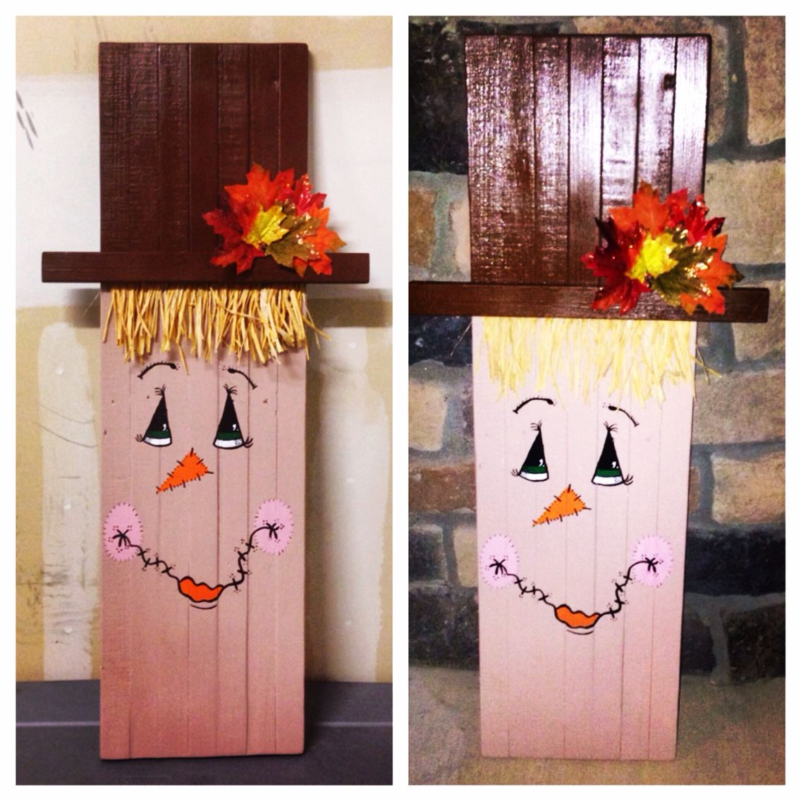 Scarecrow Of Pallet. Pull Pallet