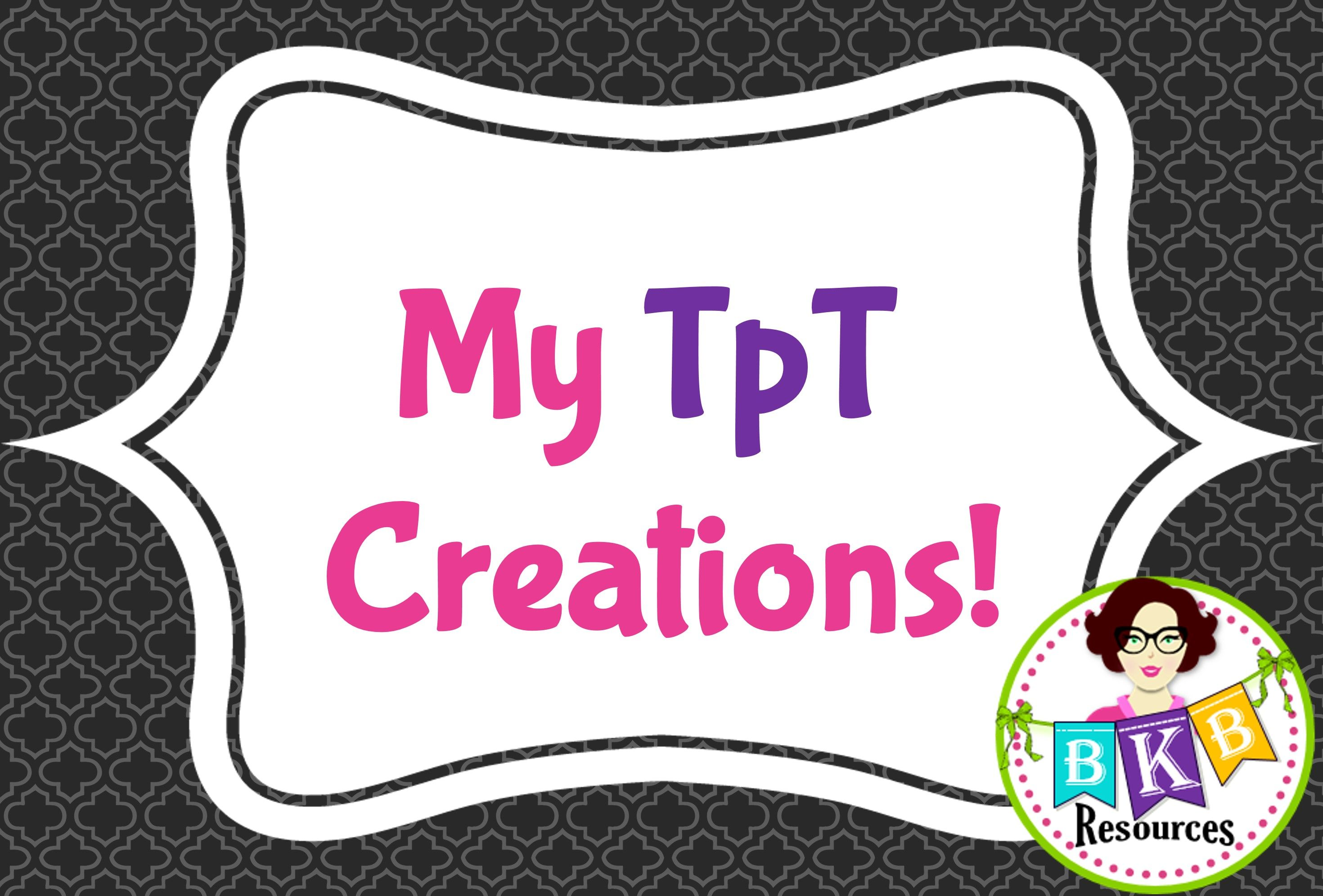 All My Tpt Creations