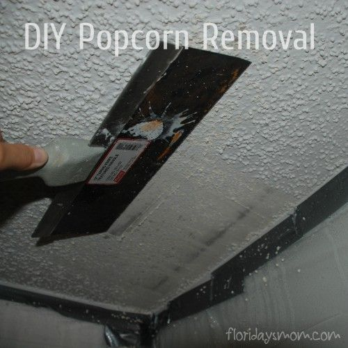 How To Remove Popcorn Ceiling Removing Popcorn Ceiling Diy Home