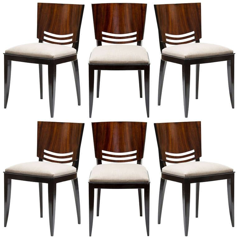 Stunning French Art Deco Dining Chairs