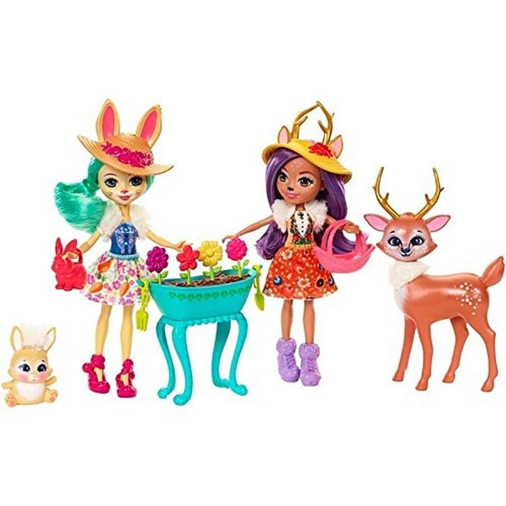New Enchantimals Garden Magic Doll Set 2 Dolls Deer Bunny Mattel Doll Sets Mattel Shop Deer Doll