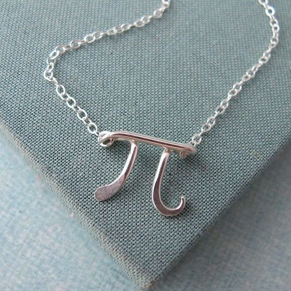 Pi necklace in sterling silver | diy wire | Pinterest | Sterling ...