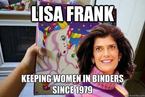 lisa frank keeping women in binders since 1979