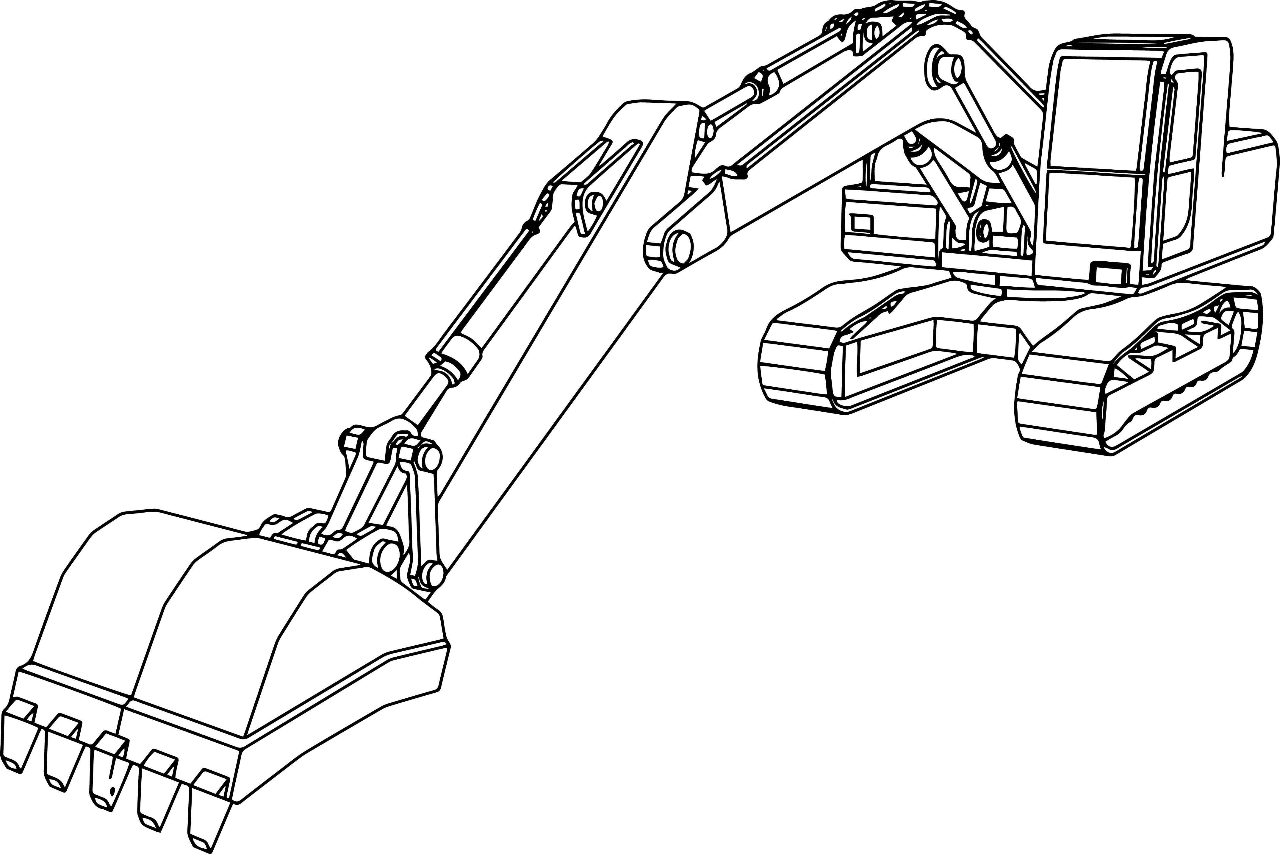 awesome Big Excavator Coloring Page Coloring pages