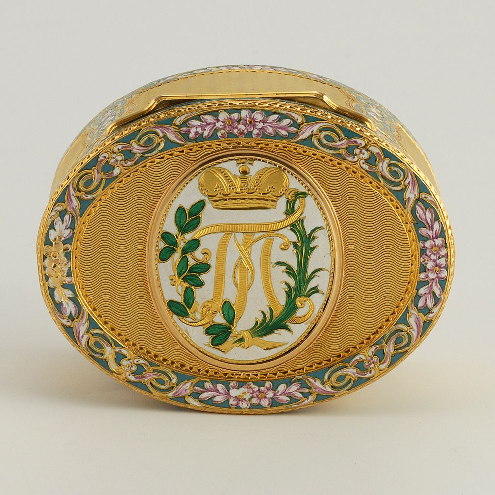 A Swiss gold and enamel Imperial Presentation snuff box for Grand Duke Paul…