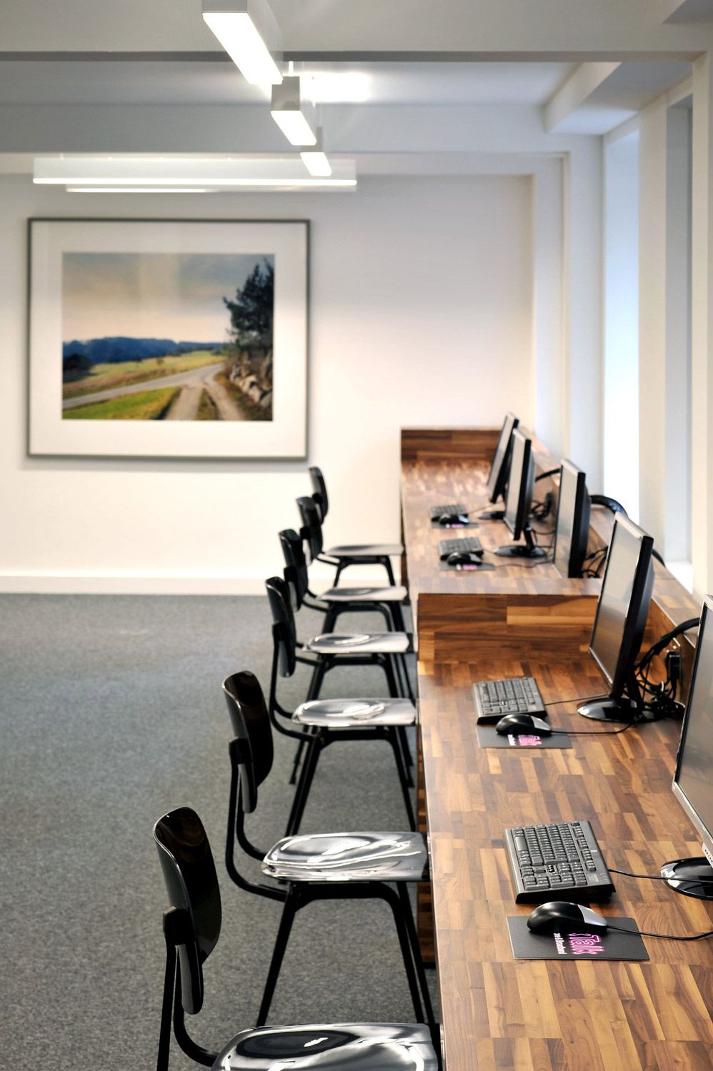 gorgeous wooden work in office 8