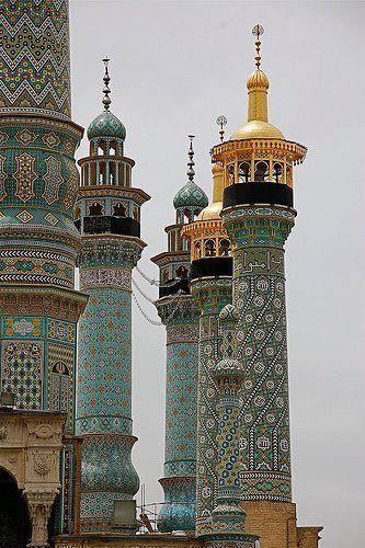Muhammadi Masjid mosque Minarets in Qom, Iran