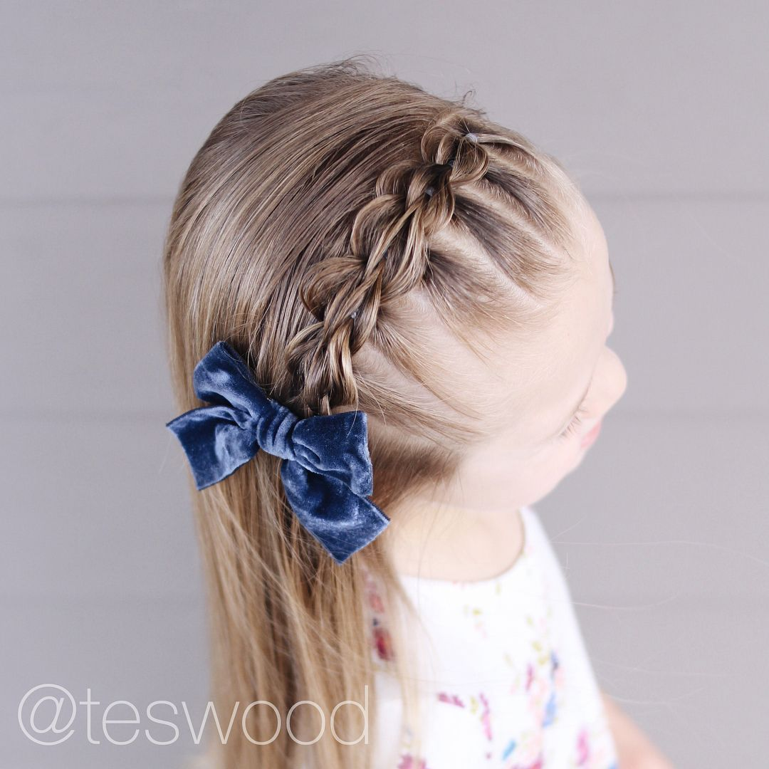 Loved This Three Strand Pull Through Braid Headband Teswood Toddler Hairstyle Little Girl Ha Little Girl Hairstyles Braided Headband Hairstyle Toddler Hair