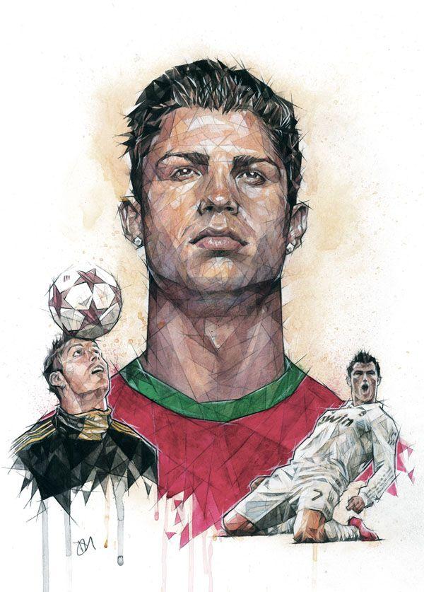 C Ronaldo By Dave Merrell Cristiano Ronaldo Ronaldo Soccer Art