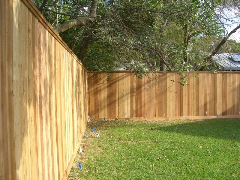 Wood Fences Gallery Viking Fence 8 Foot Semi Privacy With Top Cap And Trim Fence Design Privacy Fence Designs Diy Privacy Fence