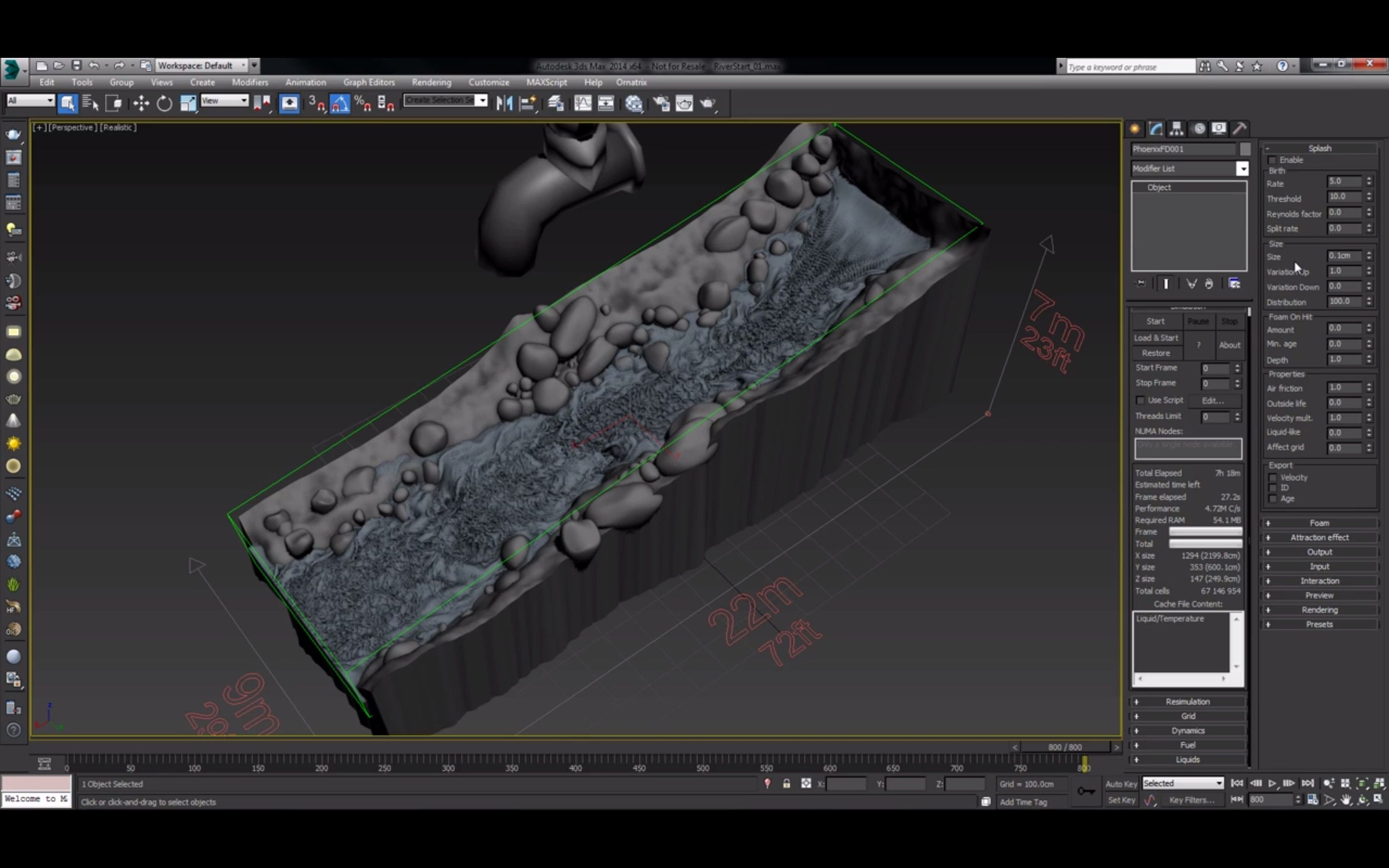 Phoenix FD River 3Ds Max Tutorial Simulation And Setup The