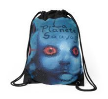 La Planete Sauvage Drawstring Bag by Scar Design #totebag #buytotebag #bag #gifts #buygifts #giftsforher #groceries #shopping #shoppingbag #buybag #buytotebag #cool #coolgifts #accessories #womenaccessories #beachtotebag #beach #beachbag #summer #summergifts #summerbag #animation #scifibags #scifi