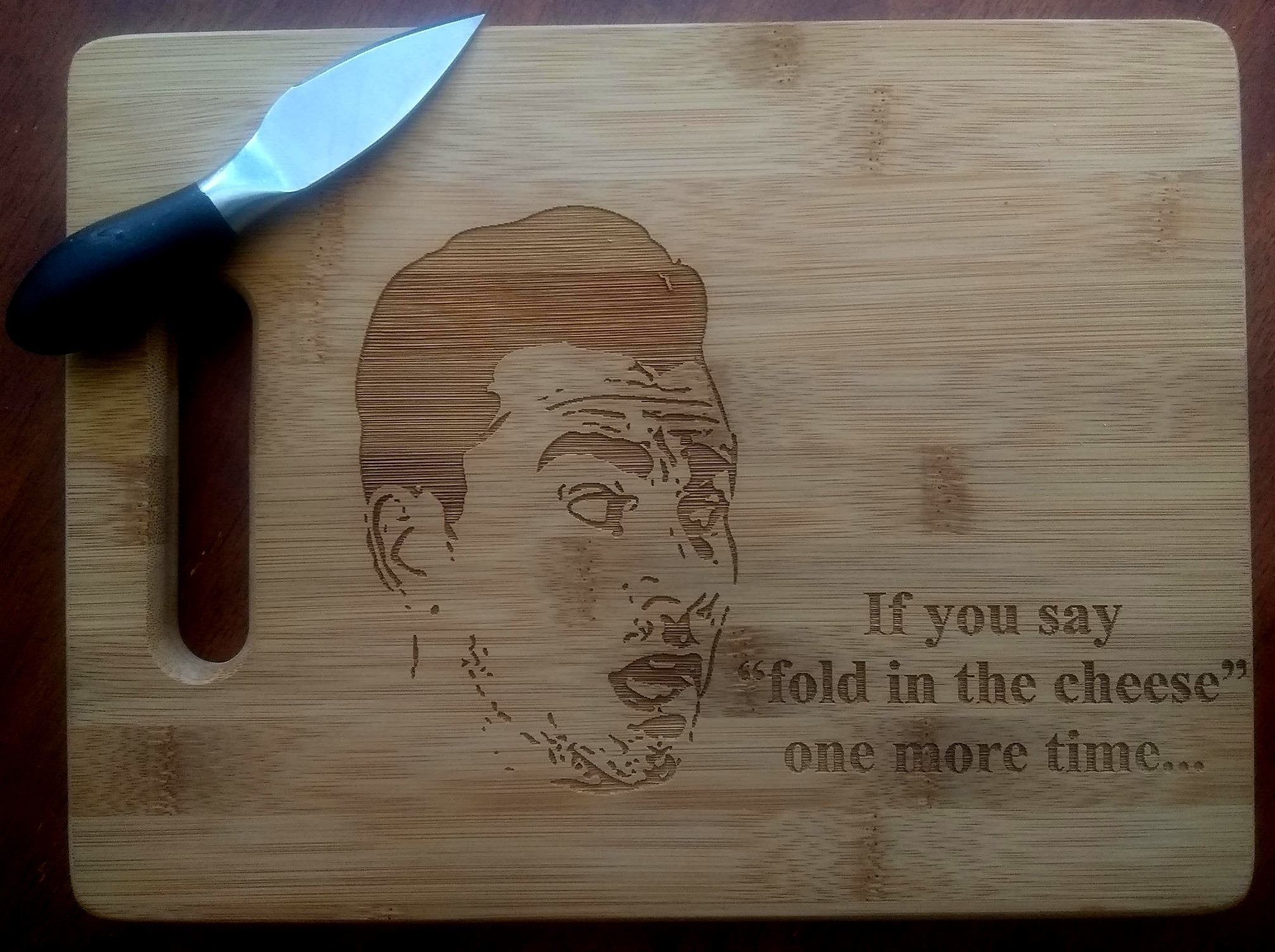 Custom Moria Rose Cutting Board ON SALE Small Bamboo Cutting Board Christmas Gift